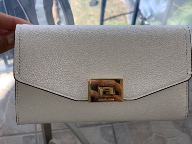 2a868182ed91f3 Michael Kors Cassie Leather Large Trifold Wallet in Vanilla for sale ...