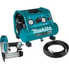 Makita Mac100qk1 12 Hp 1 Gallon Compact Electric Compressor Nailer Combo Kit