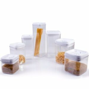 Small Large VACUUM FOOD BOX Air Tight Dry Fruit Pasta Cereal
