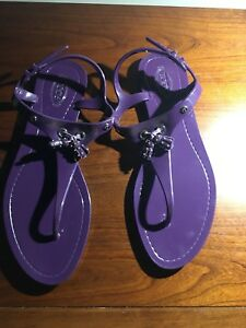 f4760ca8325 Image is loading TOD-S-PURPLE-TASSEL-DETAIL-THONG-JELLY-SANDALS-