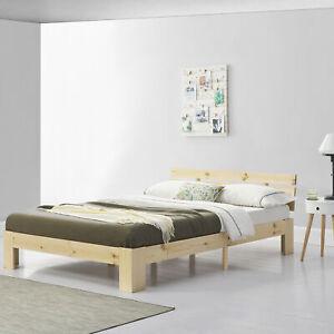 [en.casa] Holzbett 140x200cm Bettgestell Bett Doppelbett Kiefer Jugendbett Holz