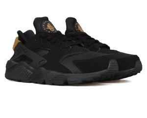 promo code 5c024 917b3 Image is loading New-Nike-Air-Huarache-Black-Metallic-Gold-318429-