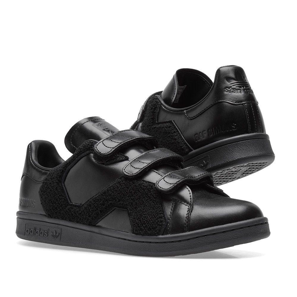 Adidas x Raf Simons Stan Smith comodidad comodidad Smith Insignia Core Negro 42cd37