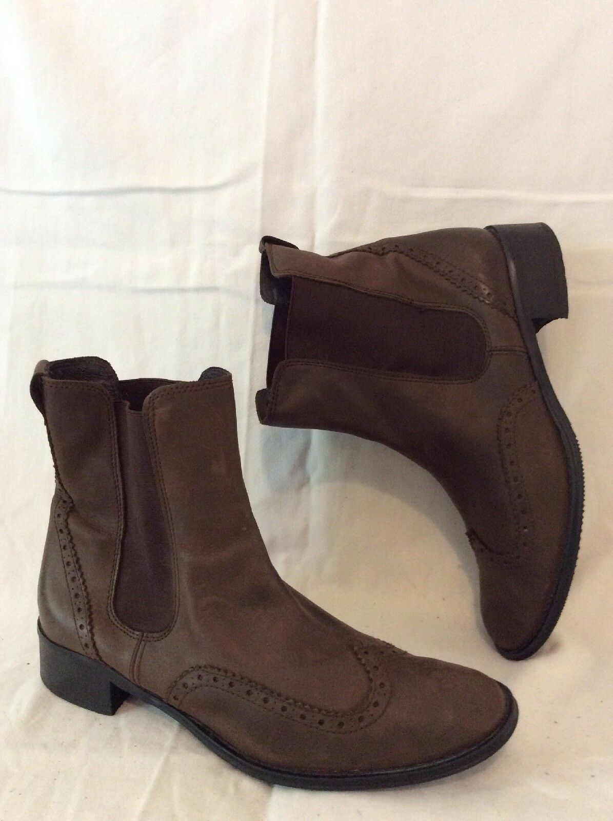 Boden Brown Ankle Leather Boots Size 40