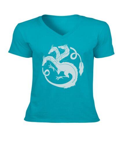 Spirited Away House Haku Dragon Sigil Men Women Unisex V-Neck Short Top T-Shirt