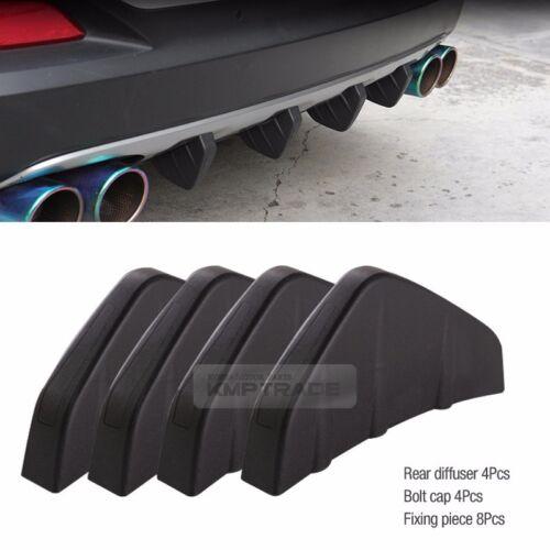 Bumper Diffuser Molding Point Garnish Lip Under Splitter Black for VOLVO Car