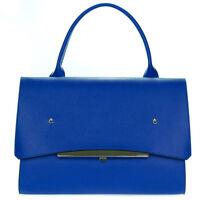 Gianni Chiarini Italian Made Blue Leather Large Business Bag Satchel Customized