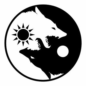 Ota Sticker Yin Yang Wolf Black White Size 3 5 Inch Decal Symbol For Car Window Ebay