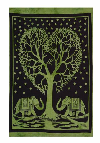Indian Handmade Wall Hanging 100/% Cotton Poster Tapestry Ethnic Wall Art Throw