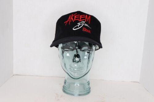 Vintage 80s New Etonic Akeem Olajuwon Akeem The Dream Corduroy Snapback Hat Cap