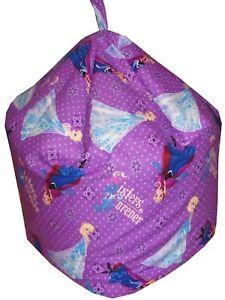 Awe Inspiring Details About Disney Frozen Kids Lilac Purple Bean Bag Childrens Bean Chair Sisters Forever Inzonedesignstudio Interior Chair Design Inzonedesignstudiocom
