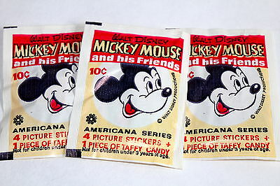 AMERICANA 70er Jahre 1970s MICKEY MOUSE and his Friends 3 x Tüte packet RAR!