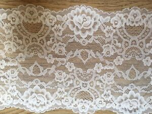 7-034-18-cm-Stunning-Bright-White-Stretch-Galloon-Lace-Trim-x-3-Metres