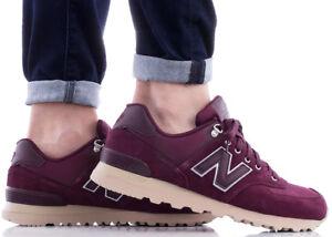 best website 0c4e0 96568 Details zu NEW BALANCE 574 Sneaker Herren Herrenschuhe Turnschuhe Classic  Weinrot ML574PKS