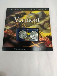 2001 Vermont State Quarters Coins of America U.S. Minted Quarter Dollar