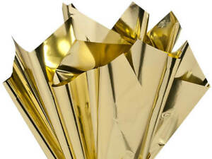 Metallic-GOLD-on-Both-Sides-Cellophane-Sheets-18-034-x30-034-Choose-Package-Amount