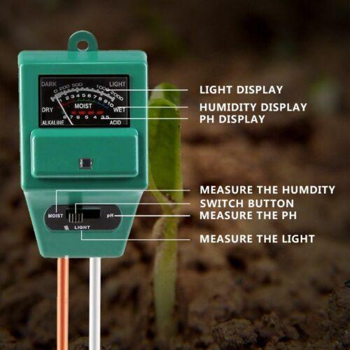 Sonkir Soil pH Meter MS02 3-in-1 Soil Moisture//Light//pH Tester Gardening Tool