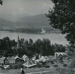 AUTRICHE-c-1950-Panorama-Village-Lac-St-Wolfgang-Div-11333