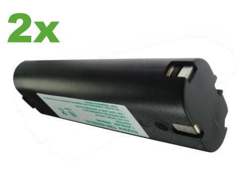 2x Batterie pour MAKITA 7,2 v 3000 mah 7000 7001 7002 7033 1916799 6010 D 6010 DL 6022d