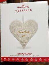 Hallmark 2017 Forever Family Porcelain Ornament
