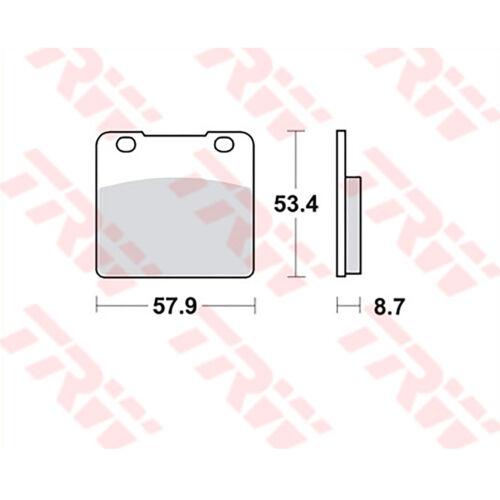 86-88; GSXR 1x TRW Bremsbeläge vorne Suzuki GSX-R 1100 GU74CD