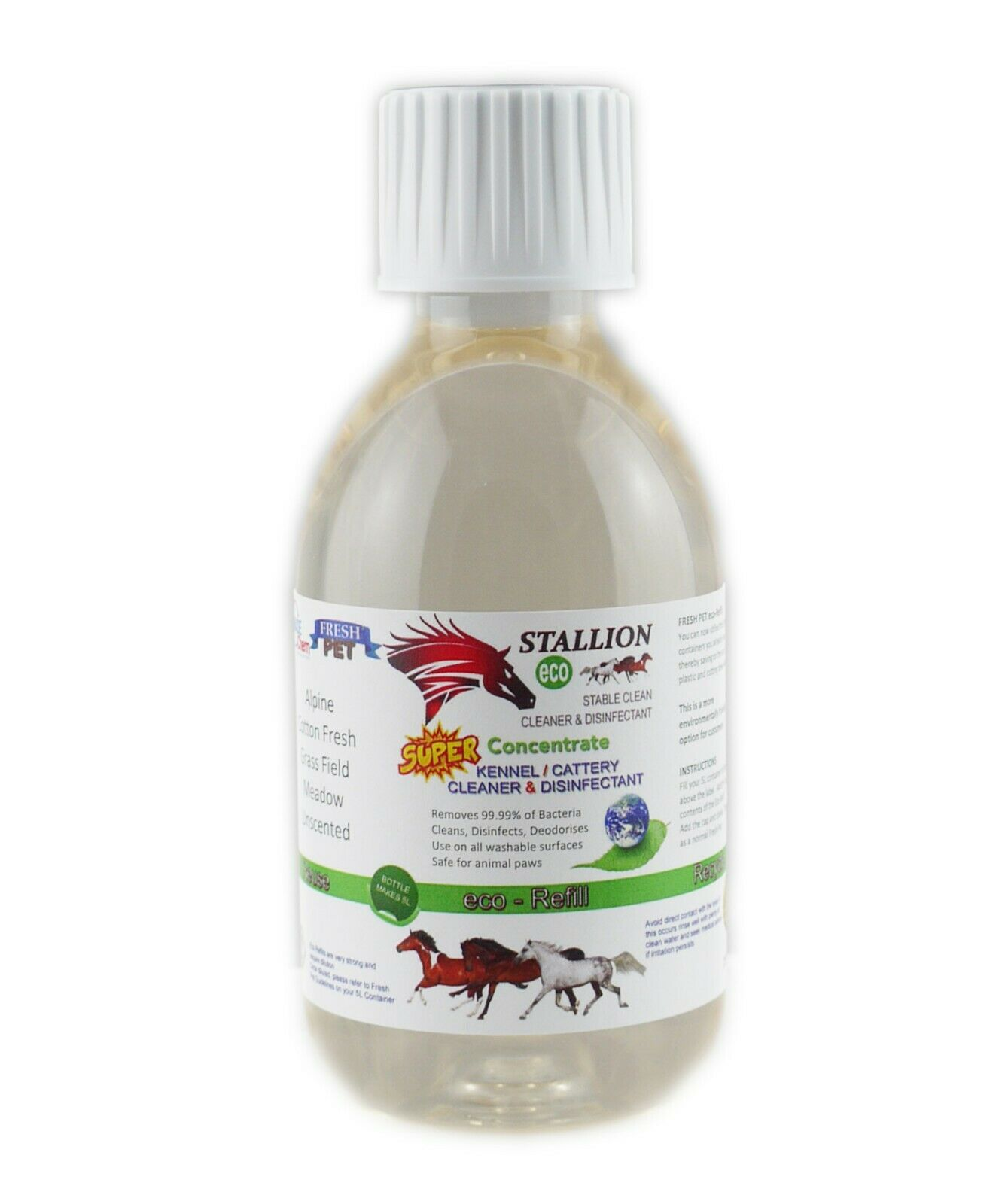 Stallion by Fresh Pet Stable Cleaner Disinfectant Eco Refill for 5L Cotton Fresh