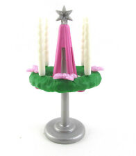 PLAYMOBIL~Dollhouse~Christmas~Advent Wreath~Stand~Pink Bows~White Candle~Diorama