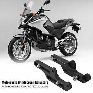 Black Outbit Windscreen Adjusters Motorcycle Windscreen Adjusters Windshield Bracket for Honda NC750X 2016-2019
