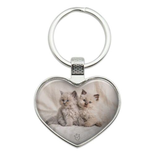 Miradoll Ragdoll Kitten Best Friends Heart Love Metal Keychain Key Chain Ring