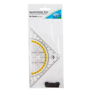 Geodreieck 16cm abnehmbarer Griff Geometrie Zeichendreieck Lineal