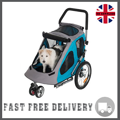 DOG/CAT BIKE TRAILER Pushchair Carrier Stroller Jogging ...