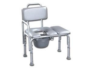 Sedia comoda wc bagno alluminio leggerissima 6.5 kg regol. gima 100