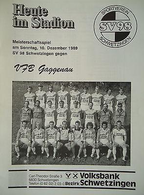Riesaer SV Programm 1995//96 VfB Glauchau