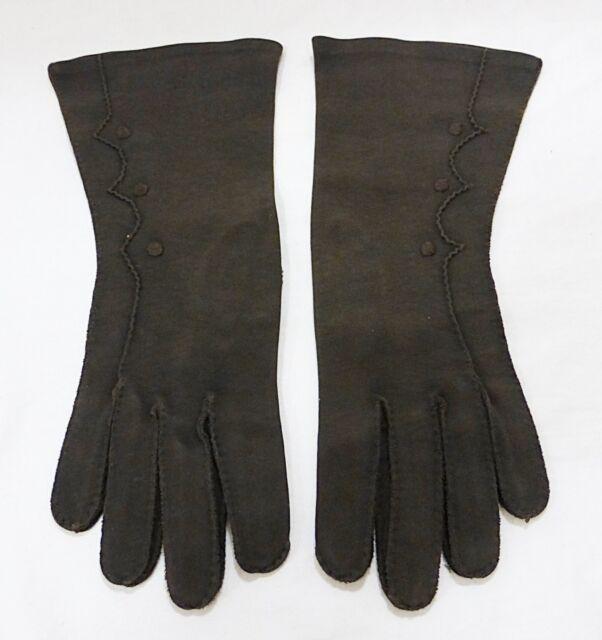 Vintage hansen women size 6 1/2 dress gloves brown mid length