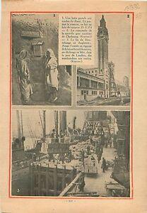 Boite-Postale-Algerie-Campanile-Gare-Maritime-de-Cherbourg-1932-ILLUSTRATION