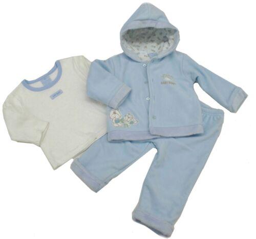 Baby Clothes Boy Outfits Newborn Infant Blue Pants Hoodie Fleece T Shirt 12 18M