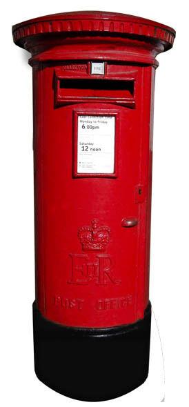 Rot Briefkasten - Lebensechte Größe Pappfigur Aufsteller
