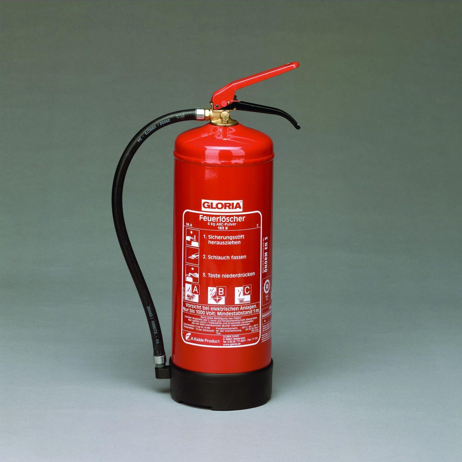 Feuerlöscher Gloria PD 6 GA