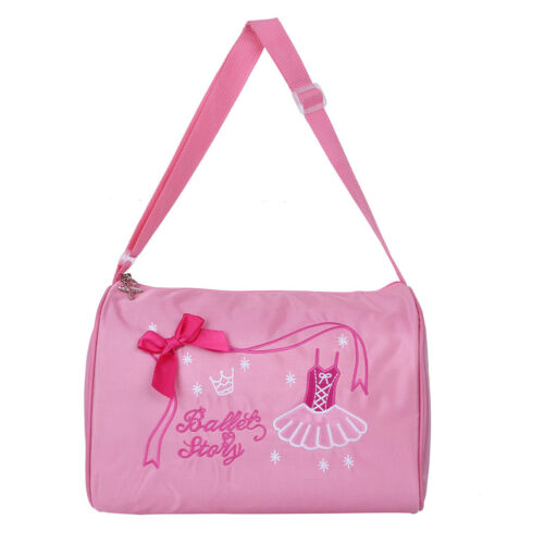 Kids Girls Ballet Dance Hand Bag Shoulder Duffel Storage Luggage Carry-on Tote