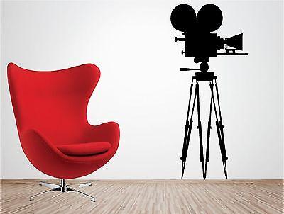 Large Movie Camera tripod wall art sticker vinyl lounge film