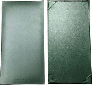 "25 Green Single Panel Menu Covers - 11"" x 5.5"" in"