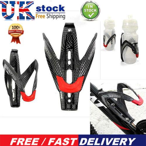 Road Bicycle Bike V Shape Water Bottle Holder Carbon Fiber Bottle Rack Cage UK