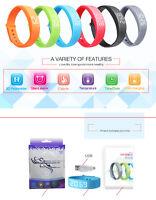 3d Smart Wrist Band Watch Pedometer Step Sleep Calorie Activity Tracker Bracelet