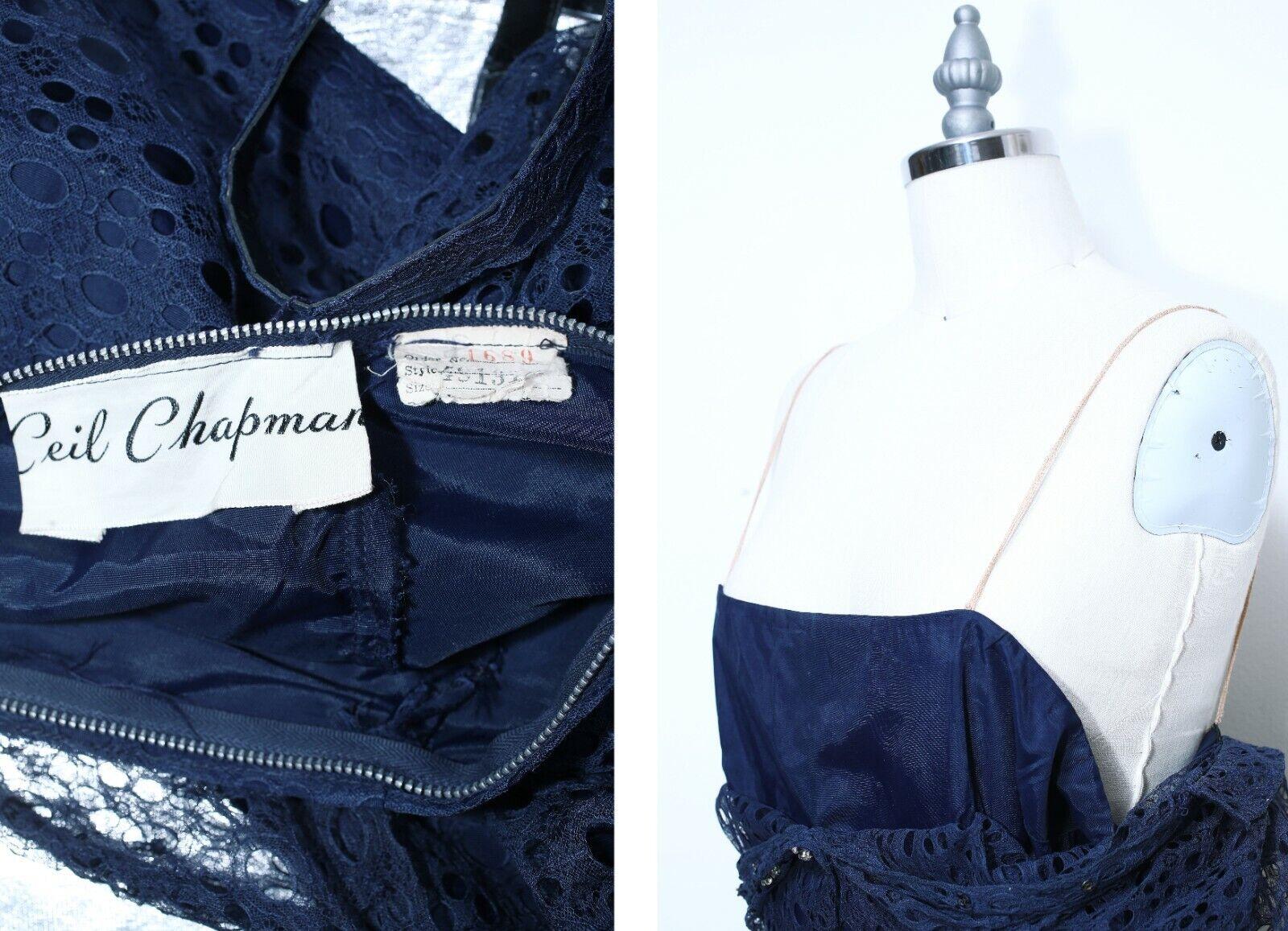 Vintage 1950s Designer Label   Ceil Chapman Dress… - image 5