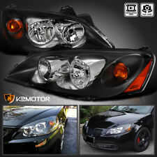 For 2005 2010 Pontiac G6 Replacement Black Headlights Head Lamps Leftright Pair Fits Pontiac G6