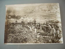 PHOTO ORIGINALE 1914 MONASTIR CANON DE 100 DE MARINE MILITAIRE