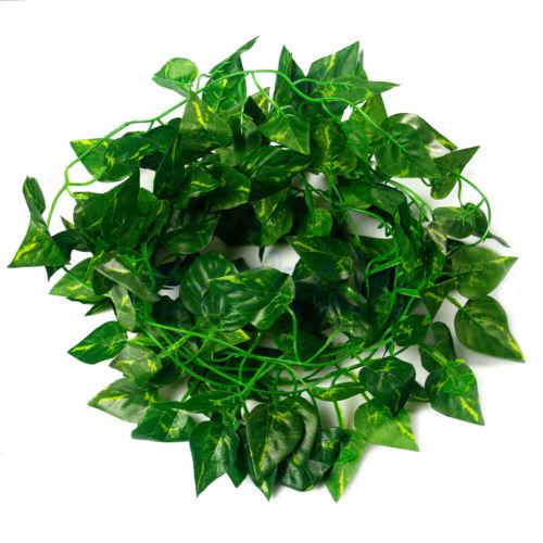 7.22ft Home Decor Green Plant Ivy Leaf Rattan Faux Garland Vine Foliage XE