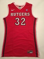 NIKE Game Worn Used RUTGERS Basketball Jersey XL #32 SCARLET KNIGHTS