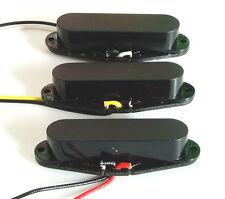 Artec Alnico 5 Single Coil Strat Pickup Set Black Closed Cover