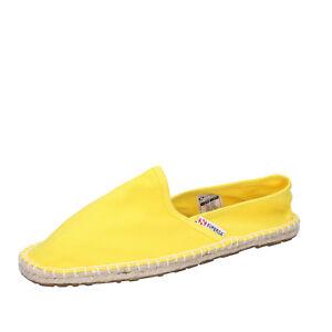 best service fe089 f6971 Dettagli su scarpe uomo SUPERGA 40 EU slip on espadrillas giallo tela  BT454-40